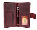 Кошелек женский кожаный под паспорт SULLIVAN kgb11(10) марсала, фото 7