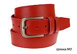 Ремень кожаный джинсовый одна строчка SULLIVAN  RMK-141(7.5) 115-150 см красный, фото 2
