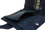 Кошелек мужской кожаный маленький SULLIVAN kmg27(9) синий, фото 6