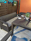 Комплект садових меблів Allibert by Keter Corfu Fiesta Max Dining Garden Set Brown ( коричневий ), фото 7