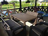 Комплект садових меблів Allibert by Keter Corfu Fiesta Max Dining Garden Set Brown ( коричневий ), фото 6