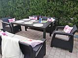 Комплект садових меблів Allibert by Keter Corfu Fiesta Max Dining Garden Set Brown ( коричневий ), фото 3