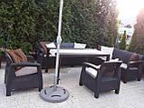 Комплект садових меблів Allibert by Keter Corfu Fiesta Max Dining Garden Set Brown ( коричневий ), фото 5