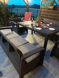 Комплект садових меблів Allibert by Keter Corfu Fiesta Max Dining Garden Set Brown ( коричневий ), фото 9