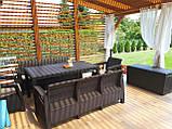 Комплект садових меблів Allibert by Keter Corfu Fiesta Max Dining Garden Set Brown ( коричневий ), фото 10