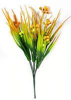 """Куст """"Мурайи"""" с оранжево-зелеными ягодами 31см"""", искусственный  ягодный куст для декорирования интерьера, фото 1"""