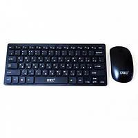 Комплект беспроводная клавиатура и мышь UKC 4661, черный, фото 1