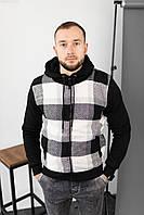Мужская кофта с капюшоном, утепленная мехом