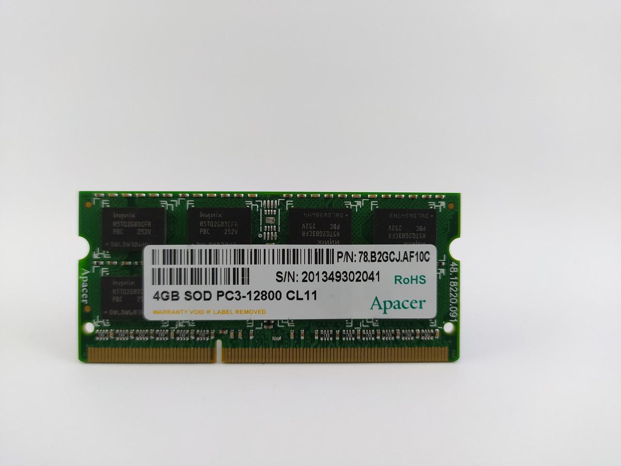 Оперативная память для ноутбука SODIMM Apacer DDR3 4Gb 1600MHz PC3-12800S (78.B2GCJ.AF10C) Б/У