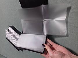 Мужской вместительный кошелек портмоне из натуральной кожи Classic DR. BOND 24612-2 черного цвета, фото 3