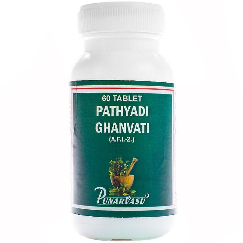 Патхьяди гханвати / Pathyadi ghanvati - при тяжкості в голові і головні болі - Пунарвасу - 60 таб