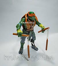 Ігрова фігурка Черепашка Ніндзя Мікеланджело Michelangelo / Черепашки Ніндзя Ninja Turtles (велика) 30см, фото 3