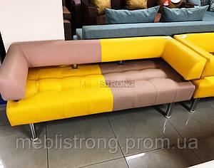 Диван для офиса Стронг Mix (MebliSTRONG) - бежево-желтый матовый цвет