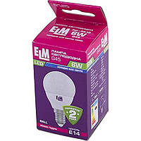 "Лампа ""ELM"" LED 18-0014 D45 6 Вт PA10 4000 K E14 (50)"