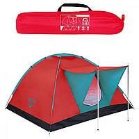 Палатка 3-місн. 210х210х120см,антимоскітна сітка, навіс, сумка №68012