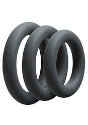 Набір эрекционных кілець Doc Johnson OptiMALE 3 C-Ring Set Thick
