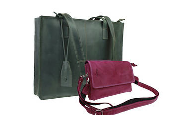 Женские кожаные сумки и клатчи