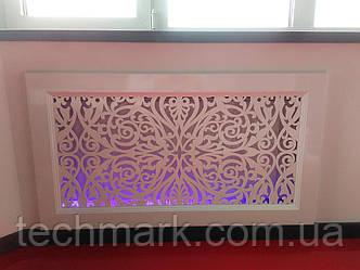 Декоративная решетка экран (фасад) на батарею отопления R1-F60