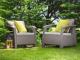 Комплект садовой мебели Allibert by Keter Corfu Fiesta Max Dining Garden Set Cappuccino ( капучино ), фото 8
