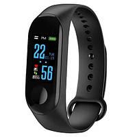 """Фитнес браслет умный трекер водонепроницаемый цветной экран Gemei 0.78"""" M3 Fit USB Smart Bracelet черный"""