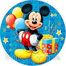 Набор тарелок Микки Маус синие, шарики 18см 10шт