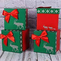 Подарочная коробка 01428-109-111 Олень 11,5*11,5*11см