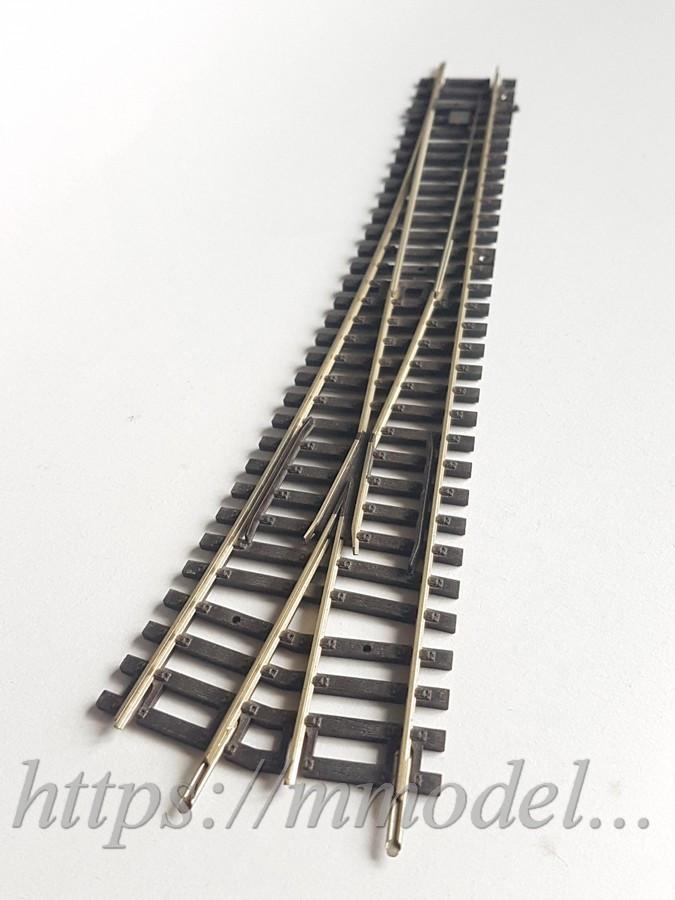 PIKO A-Gleis 55220 Стрелочный перевод левый WL угол отклонения 12 длиной 239мм без коробки, масштаба 1:87