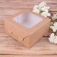 Коробка самосборная с окном 14*14*7см №4769-2