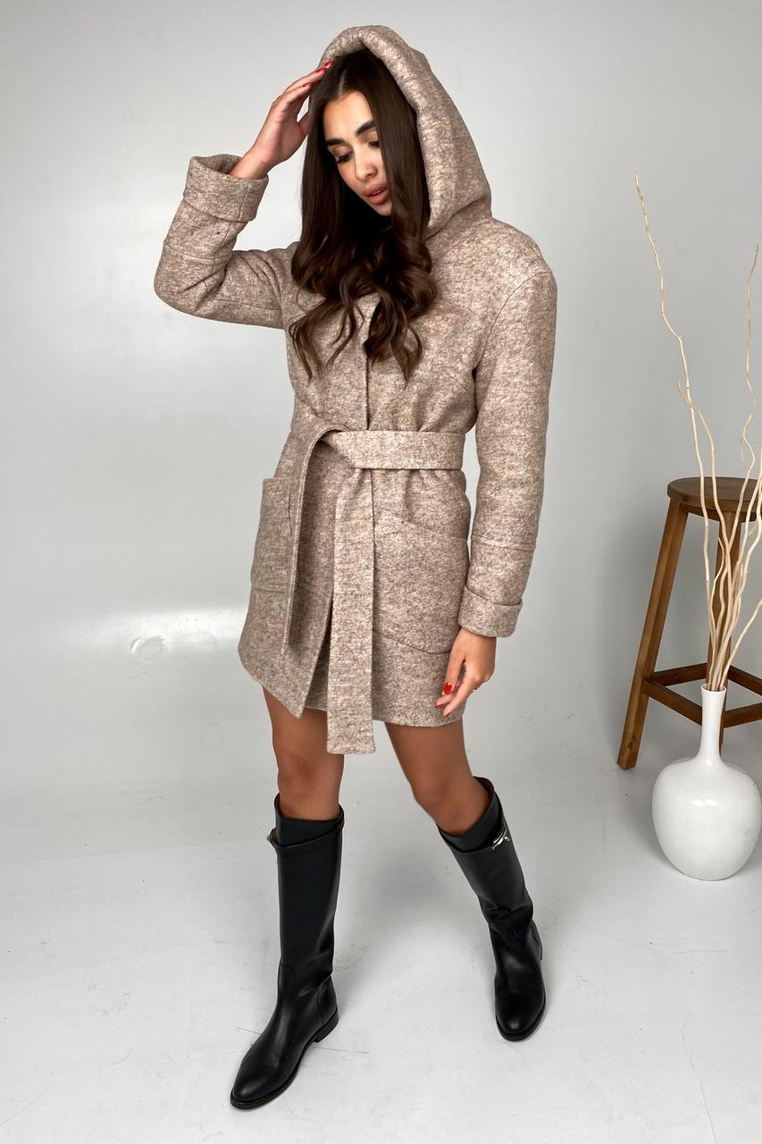 Тепле зимове пальто з капюшоном Аніта 9936