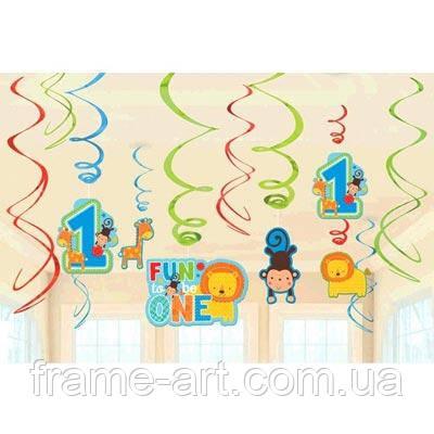 Спираль 1 День Рожденья, мальчик 46-60см 12од 1501-2613