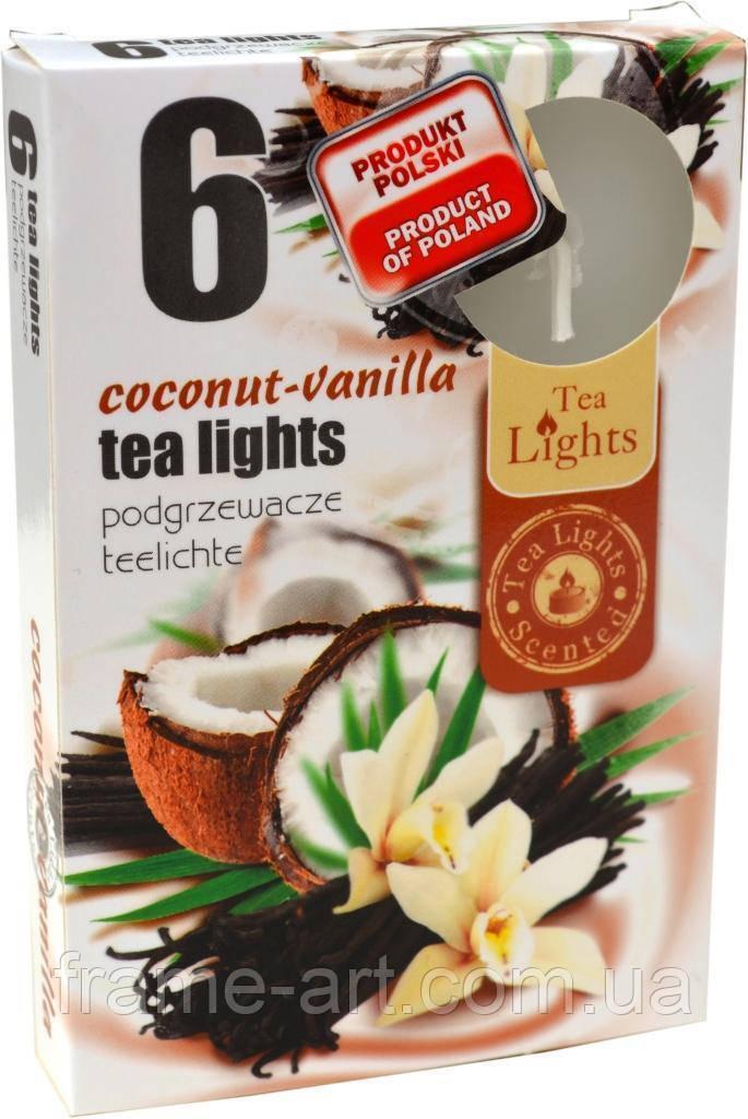 Свечка-таблетка с запахом №15-454 Кокос-Ваниль