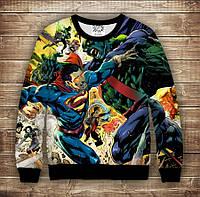Світшот з принтом Superman Marvel Дорослі і дитячі розміри, фото 1
