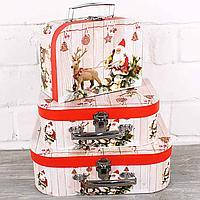 Подарочная коробка, чемоданчик 82342-14-19 Санта