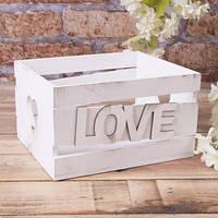 Ящик с косой планкой LOVE (маленький) №3218