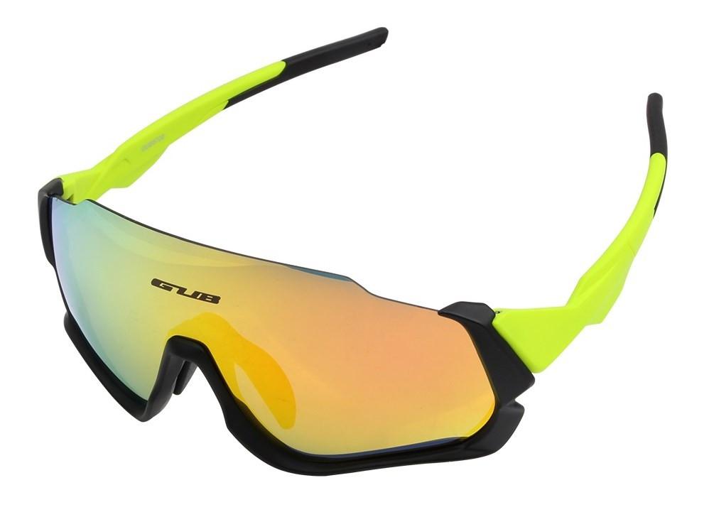 Очки велосипедные, поляризованные, со сменными линзами GUB 5700 Anti Fog, салатовые