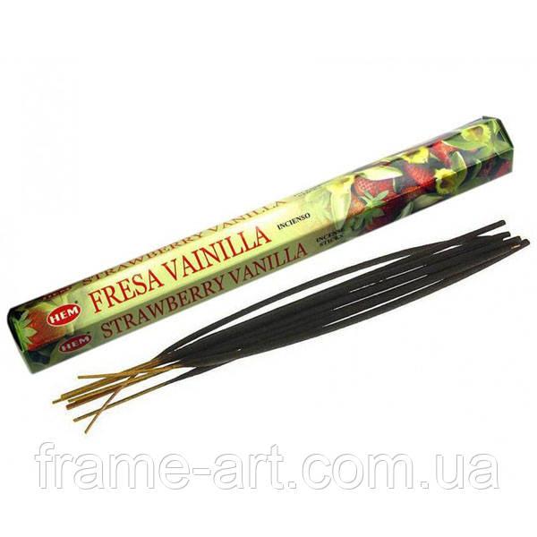 Аромапалочки Vanilla Strawberry (Ваниль и Клубника) шестигранник 20шт 28155