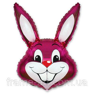 Шар Flexmetal фольгированный М/Фигура Кролик малиновый 1206-0087