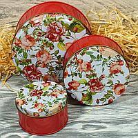 Подарочная коробка жестяная 10787-34 Розы 7,5*4,5см