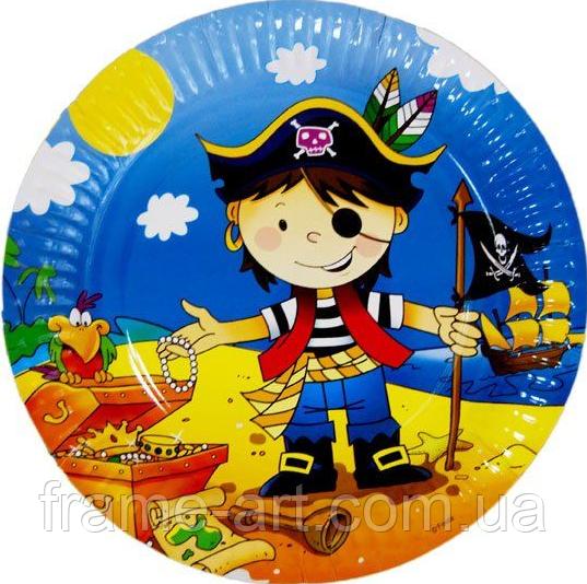Набор тарелок Пираты 18см 10шт 11-30