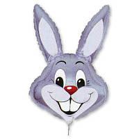 Шар Flexmetal фольгированный М/Фигура Кролик серый 1206-0088