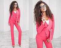 Красивый стильный модный классический деловой женский брючный костюм-двойка  + цвета, фото 1