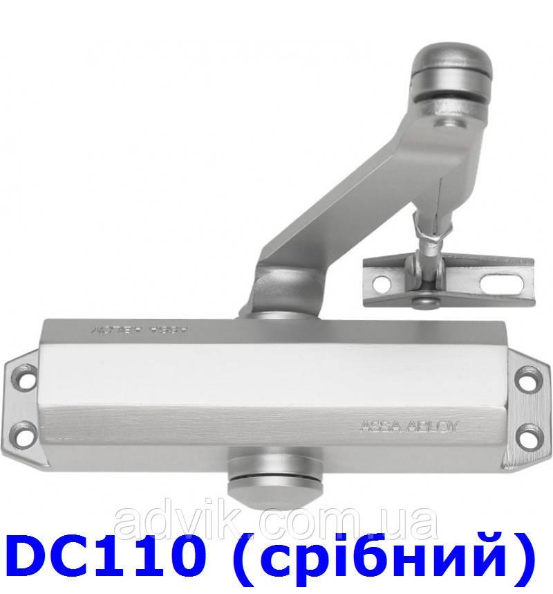 Доводчик ASSA ABLOY DC110 з важільною тягою (срібний)