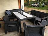 Комплект садових меблів Allibert by Keter Corfu Fiesta Max Lounge Set, фото 6