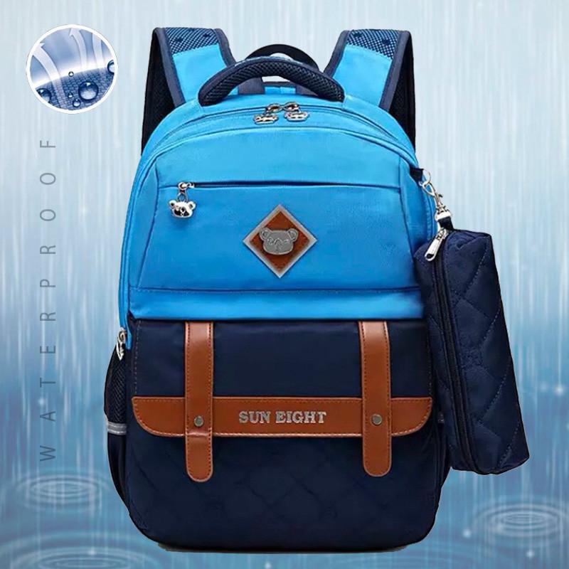 Школьный рюкзак анатомический с пеналом, прочный портфель для мальчика 7, 8, 9, 10 лет (1-4 класс)