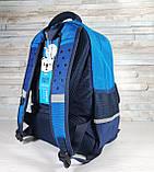 Школьный рюкзак анатомический с пеналом, прочный портфель для мальчика 7, 8, 9, 10 лет (1-4 класс), фото 3