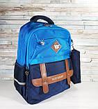 Школьный рюкзак анатомический с пеналом, прочный портфель для мальчика 7, 8, 9, 10 лет (1-4 класс), фото 4