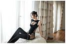 Сексуальна боді сітка комбінезон бодистокинг з рукавами боді сітка сексуальне білизна, фото 7