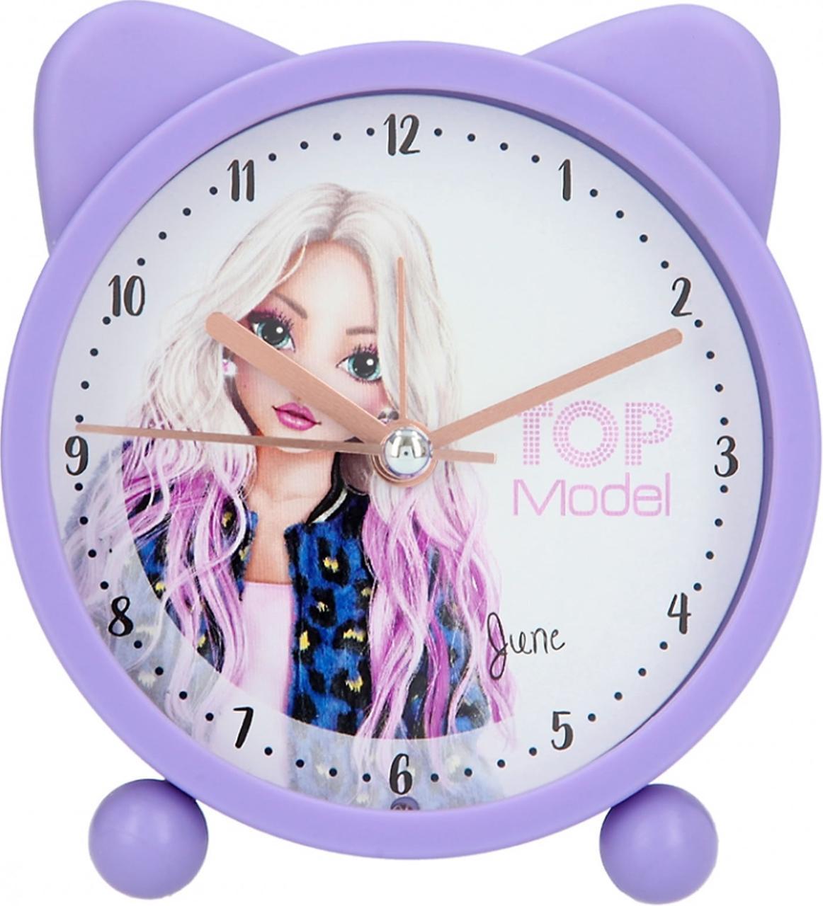 TOP Model часы будильник June из серии LEO LOVE (Топ Модел будильник в кошачьем стиле Depesche 4790)