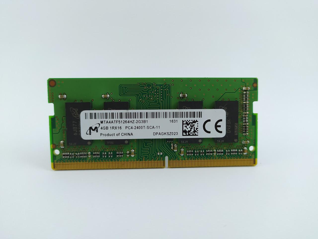 Оперативная память для ноутбука SODIMM Micron DDR4 4Gb PC4-2400T (MTA4ATF51264HZ-2G3B1) Б/У