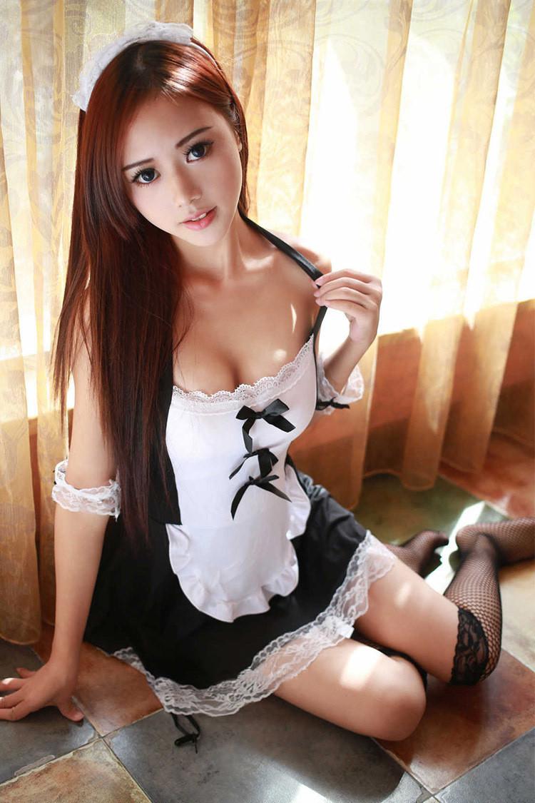Сексуальный игровой костюм служанки Dear Lover 0334 Черно-белый S/M/L